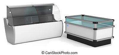 Industrial refrigerators horizontal