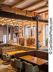 Industrial restaurant interior