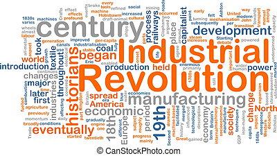 Industrial revolution word cloud - Word cloud concept...