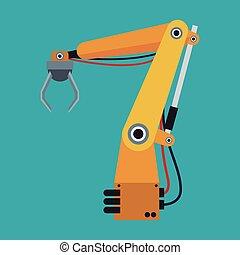 industrial robot arm engine futuristic