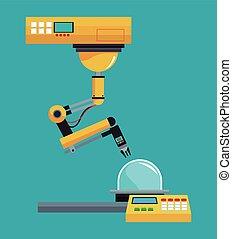 industrial robot arm working