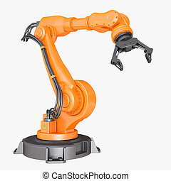 Industrial robot. Clipping path included