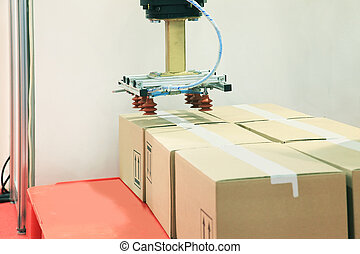 Industrial robot with vacuum suction cups