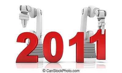 Industrial robotic arm building 2011