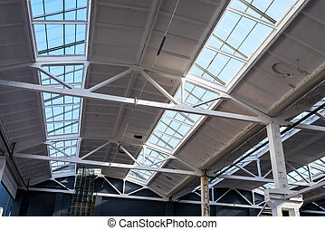 industrial roof at the factory