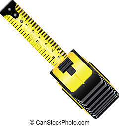 Industrial roulette - Yellow roulette measure building tool...