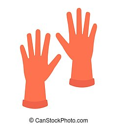 industrial rubber gloves icon vector illustration design
