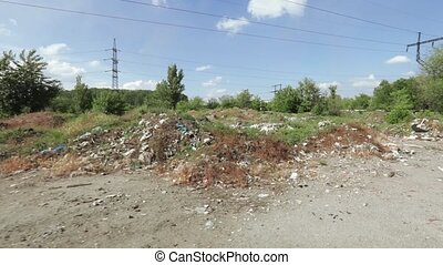 Industrial rubbish in bulk - Against the background of a...