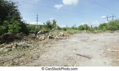 Industrial rubbish in bulk - Against the background of the...
