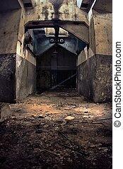 Industrial ruins. Gate