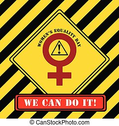 industrial, símbolo, mujeres, igualdad, día