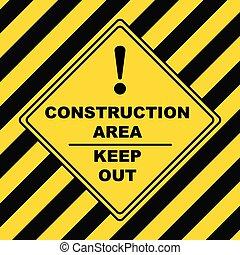 industrial, símbolo, -, zona construção