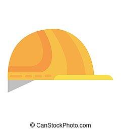 industrial safety helmet icon vector illustration design