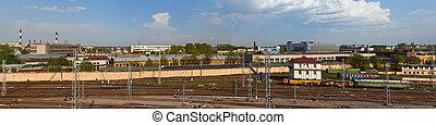 industrial Sankt-Peterburg - Panorama of industrial area of ...