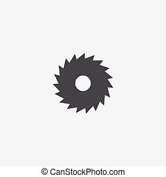 industrial saw icon, isolated, white background