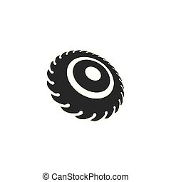 Industrial saw vector illustration icon design template