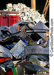 Industrial scrap - Industrial metallic scrap ready to be...