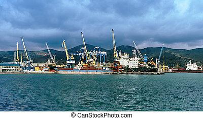 Industrial seaport