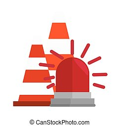 industrial security equipment icons vector illustration...