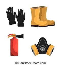 Industrial security equipment graphic design, vector...