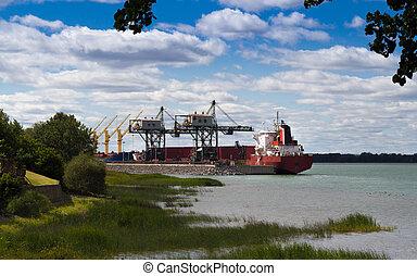 Industrial Ship at port