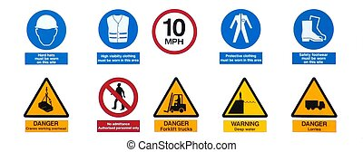 Industrial Signs - Photo of industrial harbor signs