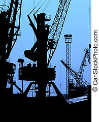 Industrial silhouett