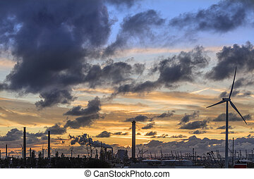 Industrial Skyline at Dusk