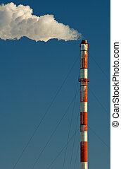 industrial, smokestack