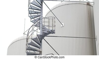 Industrial spiral staircase for tanks - Industrial spiral...
