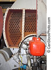 industrial steam boiler - An industrial steam boiler getting...