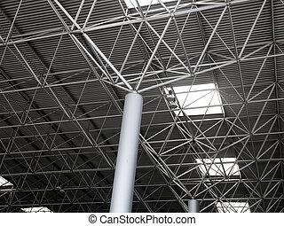 Industrial steel ceiling construction - Industrial steel...