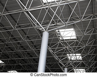 Industrial steel ceiling construction