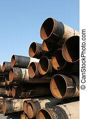Industrial steel pipes pile