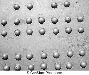rivets - Industrial steel plate with grey round rivets