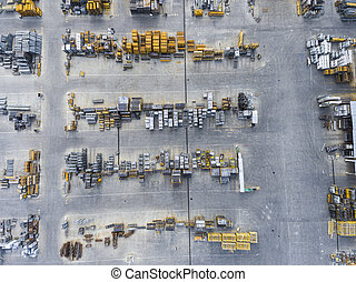 Industrial storage place, view from above.