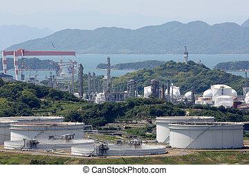 Industrial storage tanks - Industrial fuel storage tanks at...
