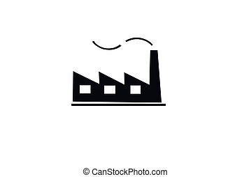 industrial symbol - an illustration of a factory, a symbol...