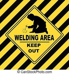 Industrial symbol - Welding Area