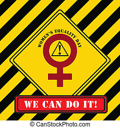 Industrial symbol Women Equality Day