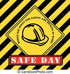 Industrial symbol - World Day for Safety