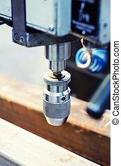 industrial, taladro, maquinaria