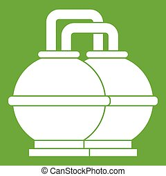 Industrial tanks for petrol and oil icon green