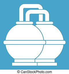 Industrial tanks for petrol and oil icon white