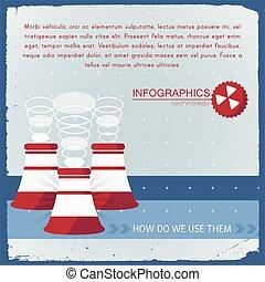 industrial, tecnologia, infographics