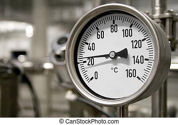 industrial, termómetro