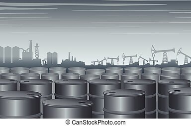 Industrial Theme Background. Vector Design Illustration
