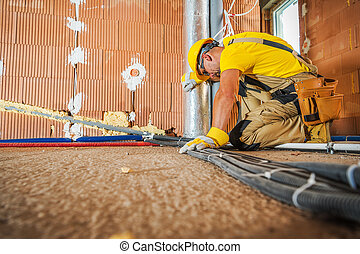 Floor Based Electrical Cables Installation