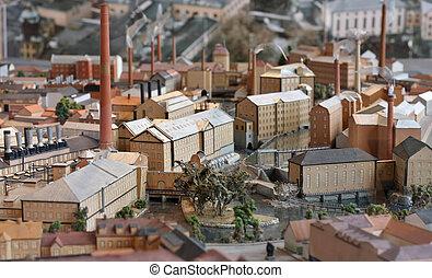 Industrial town miniature model
