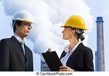 industrial, trabajo en equipo